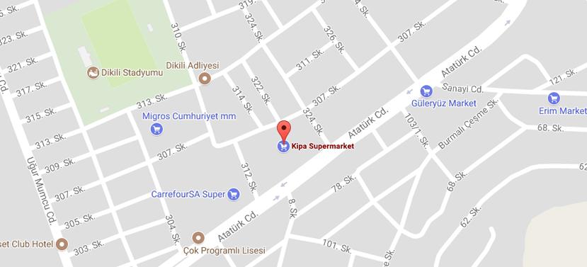İzmir Dikili Haber Harita Bilgileri